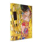 Gustavo Klimt - o beijo Impressão De Canvas Esticada