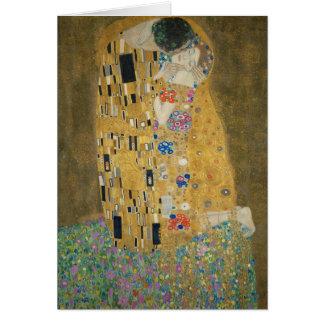 Gustavo Klimt - o beijo Cartão Comemorativo