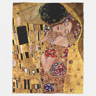 Gustavo Klimt: O beijo (detalhe) Cobertor De Lã
