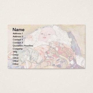Gustavo Klimt - o berço do bebê - recém-nascido Cartão De Visitas