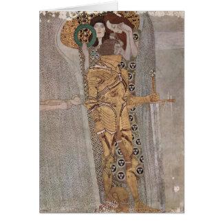 Gustavo Klimt - o friso de Beethoven Cartão Comemorativo