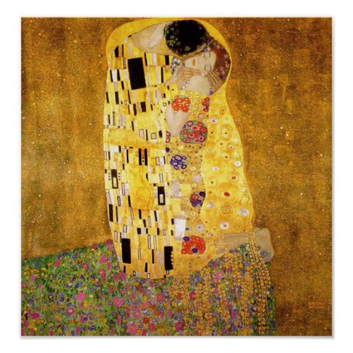 Gustavo Klimt o poster do beijo