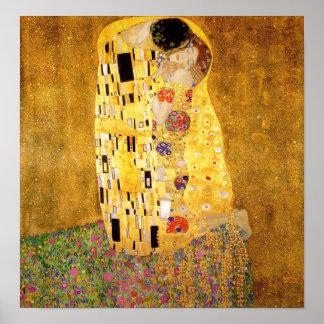 Gustavo Klimt o poster do beijo Pôster
