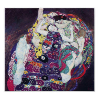 Gustavo Klimt o poster do Virgin
