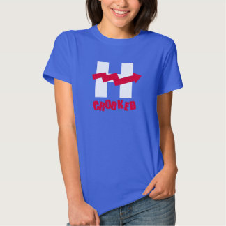 H CURVADO - - Anti-Hillary -- Camiseta