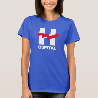 H é para o hospital de Hillary - branco -- Eleição Camiseta