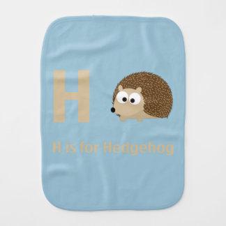 H é para o ouriço paninho para bebês