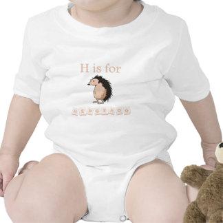 H é para o ouriço macacãozinhos para bebê