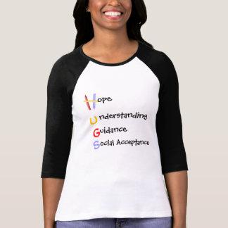 H.U.G.S. para o autismo 3/4 de camisa da luva