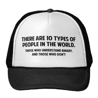 Há 10 tipos de pessoas no mundo boné