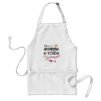 Há cogumelo para o romance no avental da cozinha