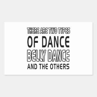 Há dois tipos de dança do ventre da dança adesivos em forma retangular