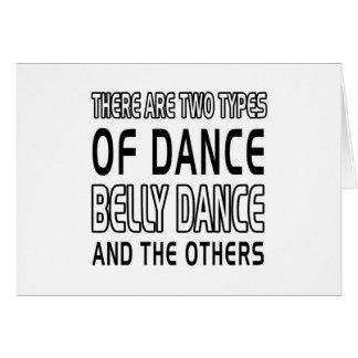 Há dois tipos de dança do ventre da dança cartao