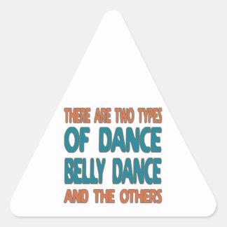 Há dois tipos de dança do ventre da dança e do o adesivo triangular