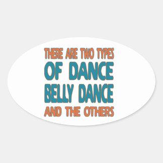 Há dois tipos de dança do ventre da dança e do o adesivo oval