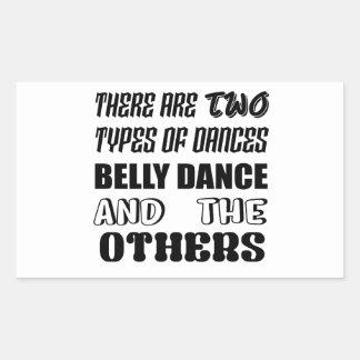 Há dois tipos de dança do ventre e de othe da adesivo retangular