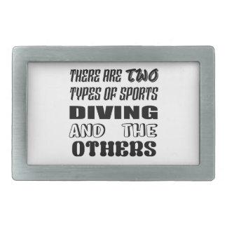 Há dois tipos de mergulho e de outro dos esportes