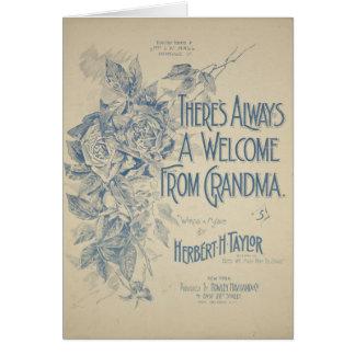 Há sempre uma boa vinda da avó cartão comemorativo