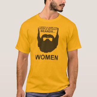 Há um nome para pessoas sem barbas… MULHERES Camiseta