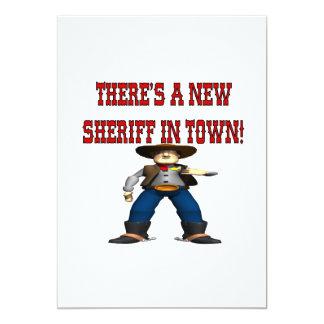 Há um Sherrif novo na cidade Convite 12.7 X 17.78cm