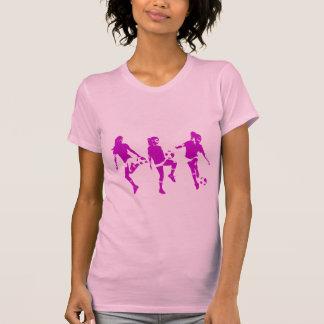 Habilidades fêmeas malva do futebol t-shirt