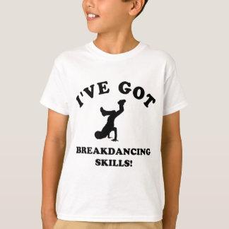 habilidades legal do breakdance camiseta