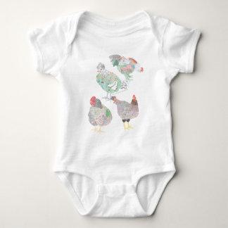 Habitat da galinha da herança body para bebê