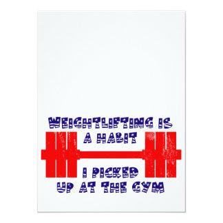 Hábito americano do halterofilismo convite 13.97 x 19.05cm