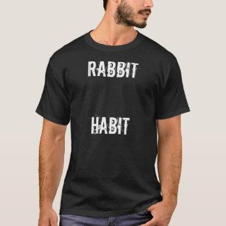 hábito do coelho tshirt
