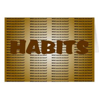 Hábitos Cartão Comemorativo