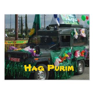 Hag Purim - o Carnaval judaico em Israel Convite 10.79 X 13.97cm