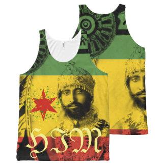 Haile Selassie por todo o lado no impressão ELE Regata Com Estampa Completa