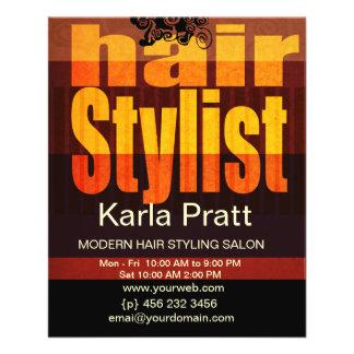Hairstylist profissional dos termas do salão de flyer 11.43 x 14.22cm