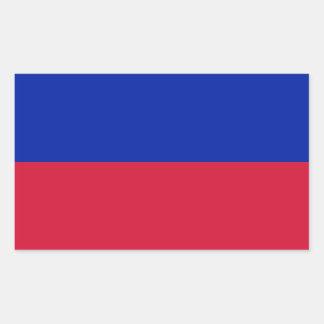 Haiti/bandeira (civil) haitiana adesivo retangular
