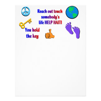 HAITI_ de ajuda Panfletos Coloridos