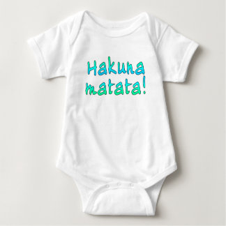 Hakuna Matata em t-shirt, Hoodies, canecas Body Para Bebê