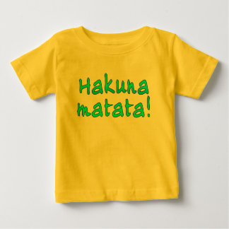 Hakuna Matata em t-shirt, Hoodies, canecas T-shirts