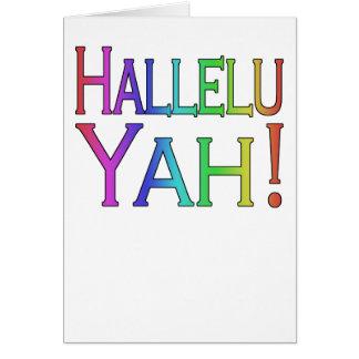 Hallelu Yah! cartão de páscoa (do arco-íris)