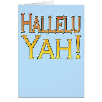 Hallelu Yah! (ouro no azul) cartão de páscoa