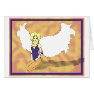 halo do anjo com nome cartão comemorativo