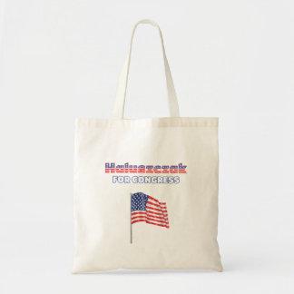 Haluszczak para a bandeira americana patriótica do bolsas de lona