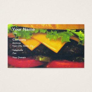 Hamburger de luxe dobro com queijo cartão de visitas