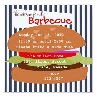 Hamburger delicioso convites personalizado