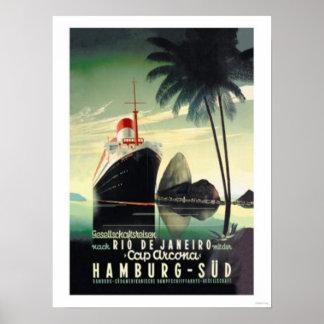Hamburgo a Rio de Janeiro no boné Arcona Poster