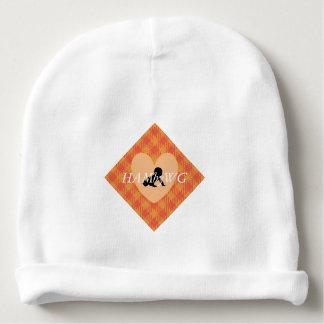 HAMbWG - Beanie do bebê - guingão alaranjado Gorro Para Bebê