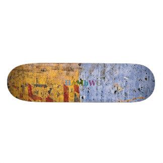 HAMbWG - bordo afligido duas cores da folhosa do Shape De Skate 20cm