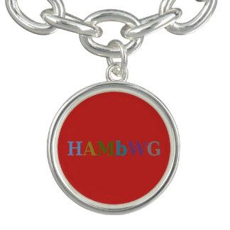 HAMbWG - bracelete do encanto - multi logotipo