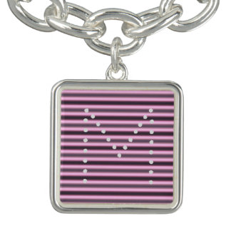 HAMbWG - bracelete do encanto - néon cor-de-rosa