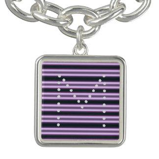HAMbWG - bracelete do encanto - néon violeta