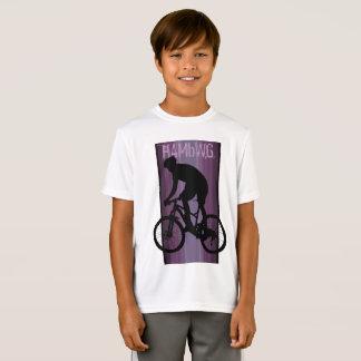 HAMbWG - camisa de T - cavaleiro da bicicleta da